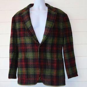 Tommy Hilfiger Men's L Plaid Wool Sports Coat